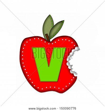 Alphabet Delicious Apple Bite V