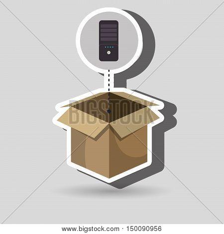 box control remote tv vector ilustration eps 10