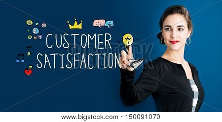 Customer Satisfaction Concept With Business Woman