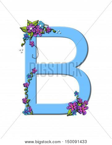 Alphabet Burst Of Spring Blue B
