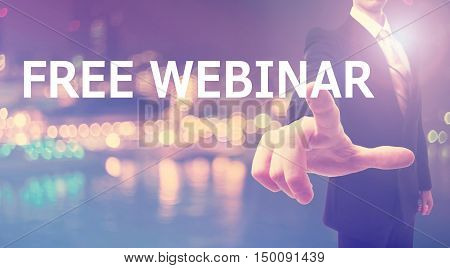 Free Webinar Concept With Businessman