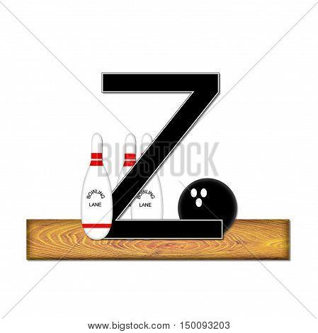 Alphabet Bowling Z