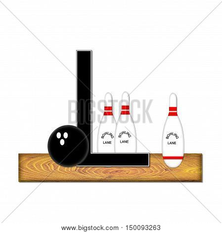 Alphabet Bowling L
