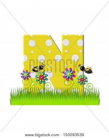 Alphabet Buzzing Bee N
