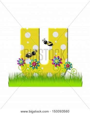 Alphabet Buzzing Bee U