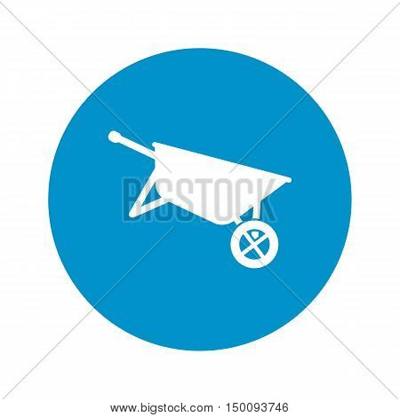 wheelbarrow icon on white background for web