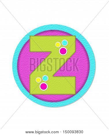 Alphabet Crinkle Paper2 Z