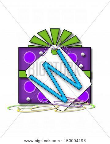 Alphabet Gift Wrapped W