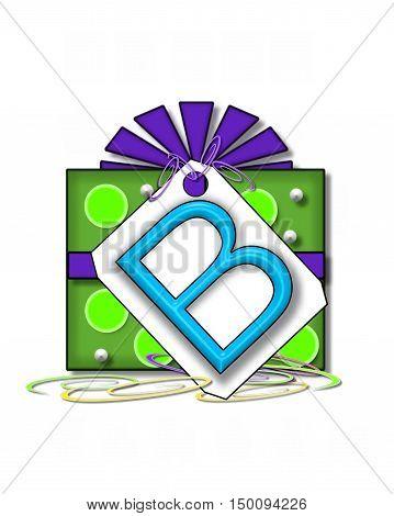 Alphabet Gift Wrapped B