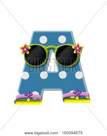 Alphabet Polka Dot Bikini A