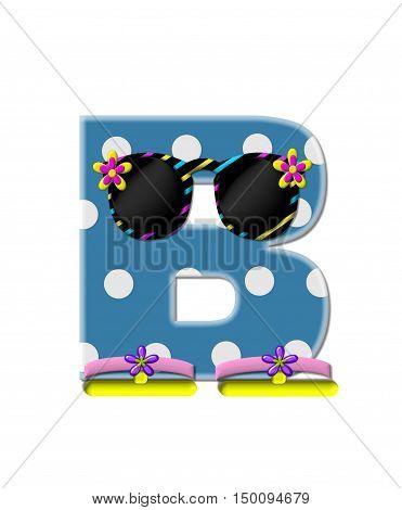 Alphabet Polka Dot Bikini B