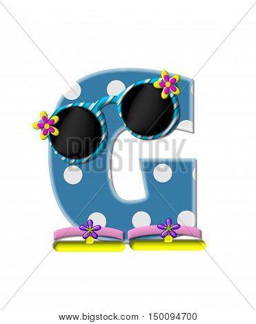 Alphabet Polka Dot Bikini G