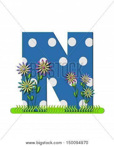 Alphabet Wildflower Meadow N