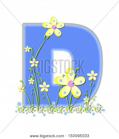 Alphabet Yellow Daisies D
