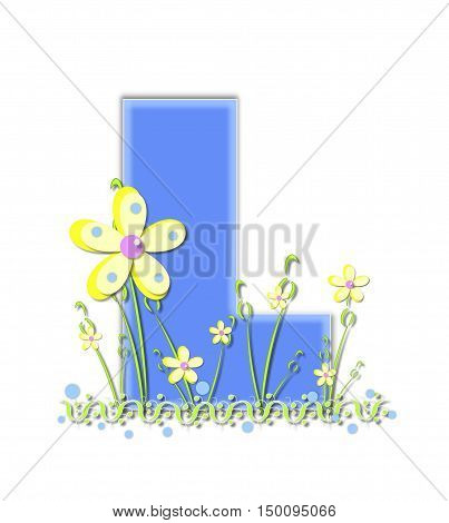 Alphabet Yellow Daisies L
