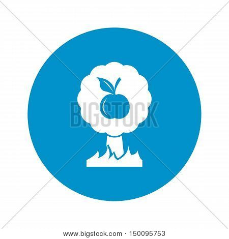 apple tree icon on white background for web