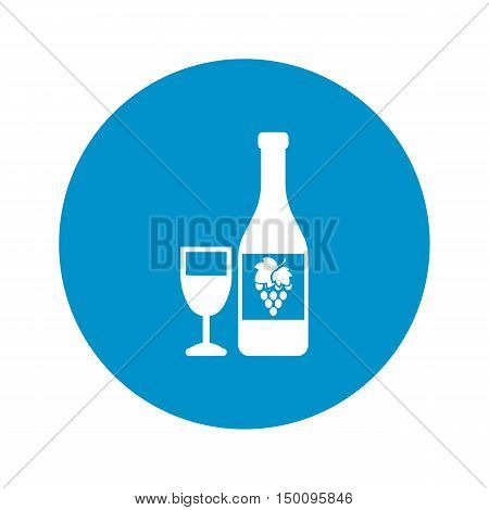 bottle icon on white background for web