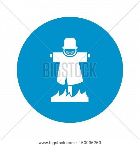 scarecrow icon on white background for web