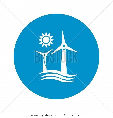 wind generator icon on white background for web
