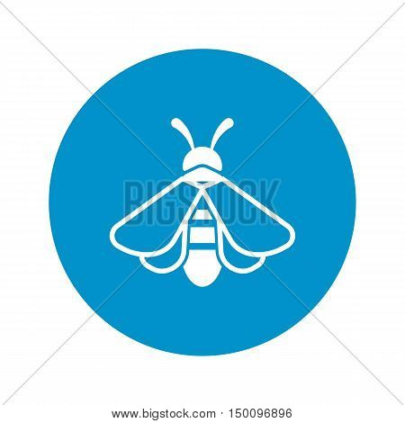 bee icon on white background for web