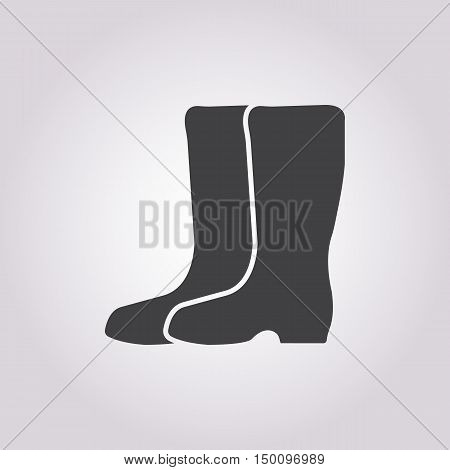 gumboots icon on white background for web