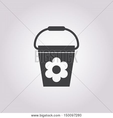 bucket icon on white background for web