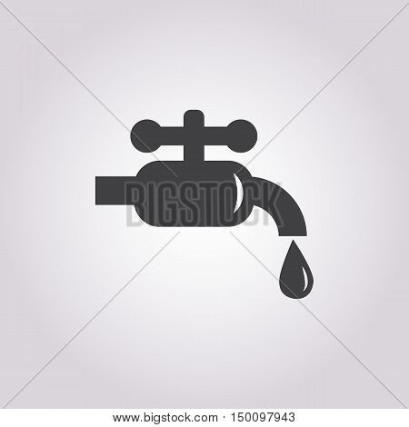 water tap icon on white background for web