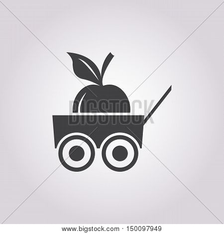 apple icon on white background for web