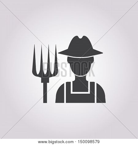 farmer icon on white background for web