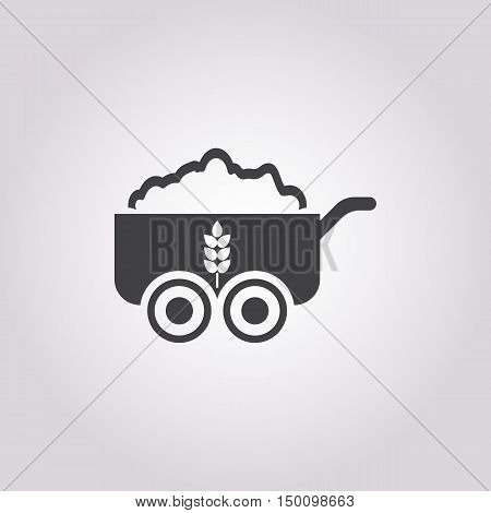 truck icon on white background for web