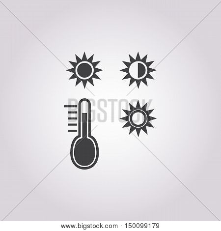 thermometer icon on white background for web