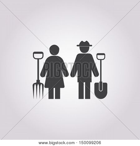 farmers icon on white background for web