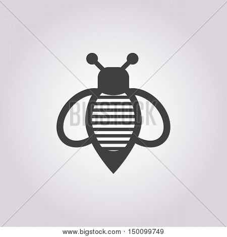 wasp icon on white background for web