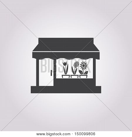 flower shop icon on white background for web