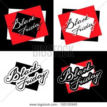 Black Friday banner template. Lettering. Isolated illustration. Vector illustration