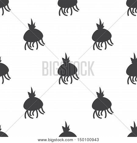bulb flowers icon on white background for web