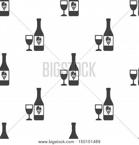 bottle icon on white background for web