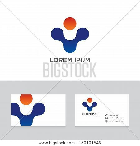 Logo brand icon business card template abstract design element vector illustration