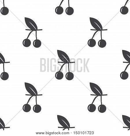 cherry icon on white background for web