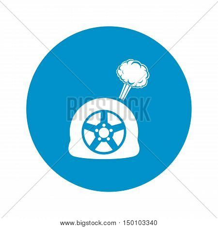 puncture wheel icon on white background for web