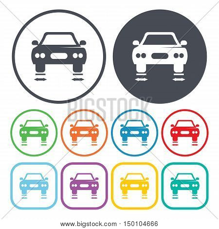 car balancing icon on white background for web
