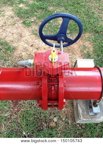 Supervisory main valve for fire protection of industrial.