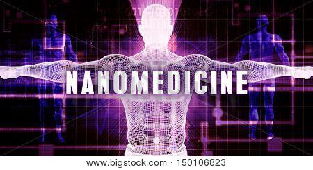 Nanomedicine as a Digital Technology Medical Concept Art 3d Render