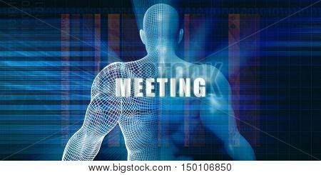 Meeting as a Futuristic Concept Abstract Background 3d Render