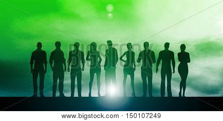 Business People Success Achievement as a Concept 3d Render