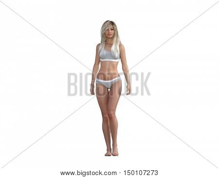 Aesthetic Treatment and Liposuction as a Body Concept 3d Render