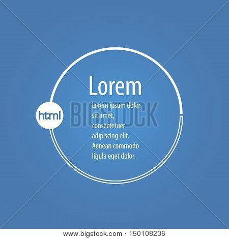 Modern web html program code php cms. Background border frame icon. Digital app web sites banner backdrop. Round speech bubble for dialog