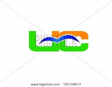 Letter U and C logo vector design template