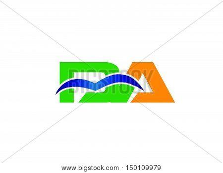 DA company linked letter logo design vector template