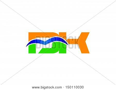 DK company linked letter logo design vector template